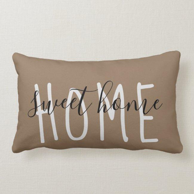 Home Sweet Home Rustic Modern Lumbar Pillow