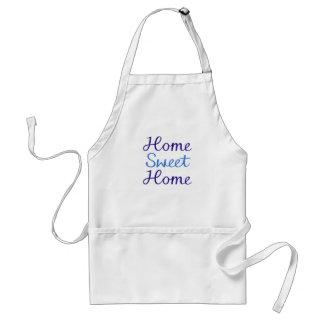 Home Sweet Home Script Design Blue Cyan Apron