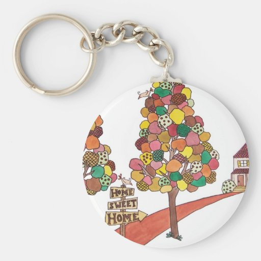 Home Sweet Home - Section Square Keychains