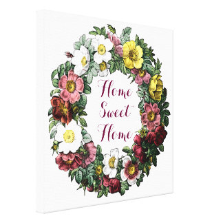 home sweet home sign , canvas print