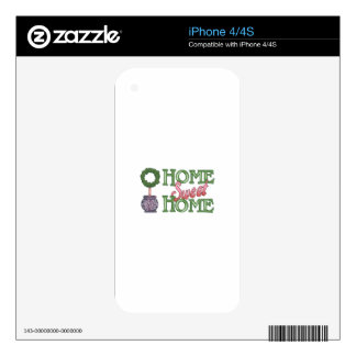 HOME SWEET HOME DECAL FOR THE iPhone 4S