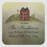 Home Sweet Home Square Address Sticker