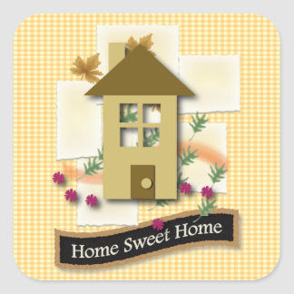 Home Sweet Home Square Sticker