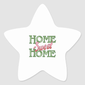 HOME SWEET HOME STAR STICKER