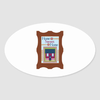 Home Sweet Home Oval Stickers