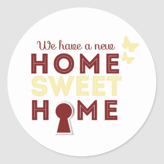 Home Sweet Home {sticker} Classic Round Sticker