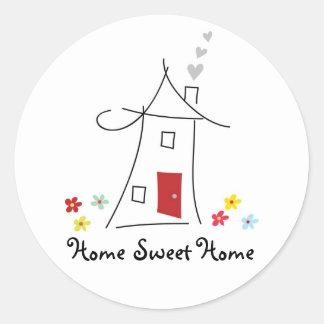 Home Sweet Home Sticker Round Sticker