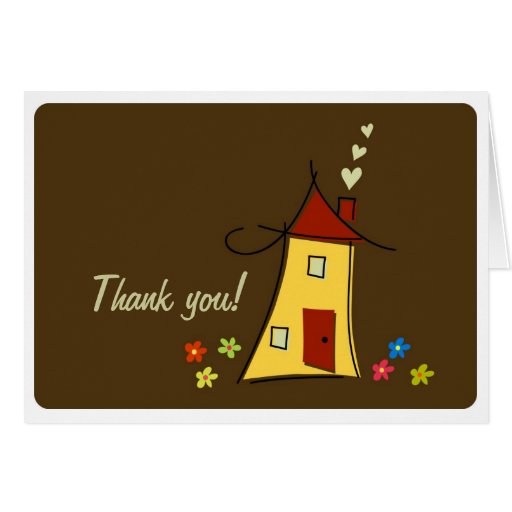 home sweet home thank you card