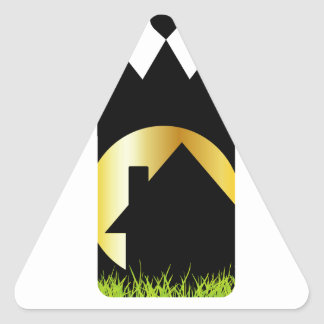 Home Sweet Home Triangle Sticker