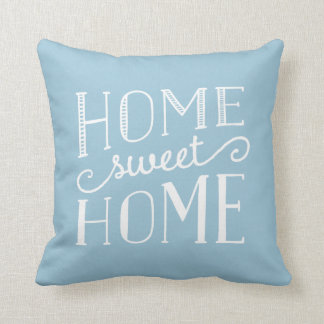 Home Sweet Home Typographic Stripe Accent Pillow