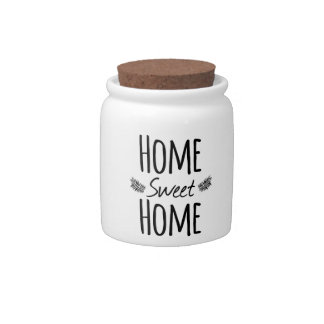 Home Sweet Home Typography Candy Jar