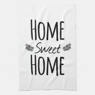 Home Sweet Home Typography Towel
