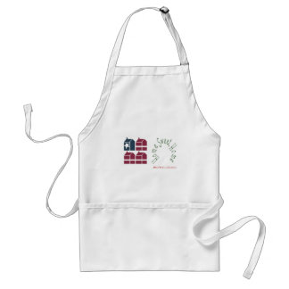 Home Sweet Home United States of America Aprons