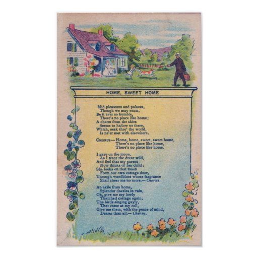 Home Sweet Home Victorian Welcome Print