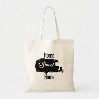 Home Sweet Home - Vintage Camper Vintage Trailer Budget Tote Bag