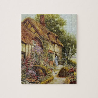 Home Sweet Home Vintage County Cottage Puzzle