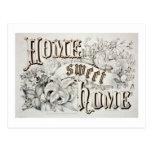 Home Sweet Home Vintage Design Postcard