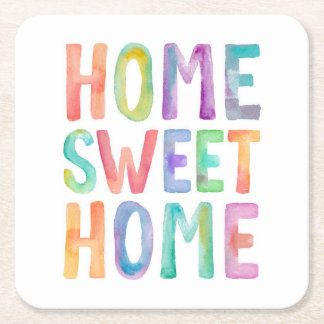 HOME SWEET HOME WATERCOLOR | COASTERS