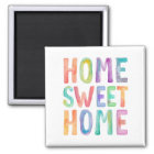 HOME SWEET HOME WATERCOLOR   MAGNET