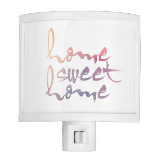 Home Sweet Home Watercolor Night Light