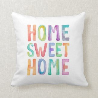 HOME SWEET HOME WATERCOLOR | PILLOW