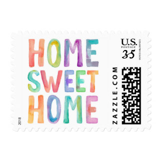 HOME SWEET HOME WATERCOLOR | POST STAMP
