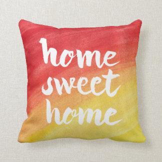 Home Sweet Home Watercolor Sunburst Pillow