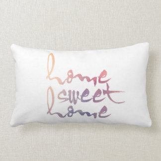 Home Sweet Home Watercolor Throw Pillow