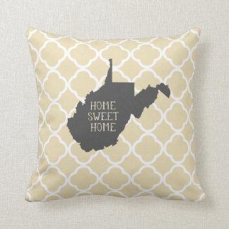 Home Sweet Home West Virginia Throw Pillow