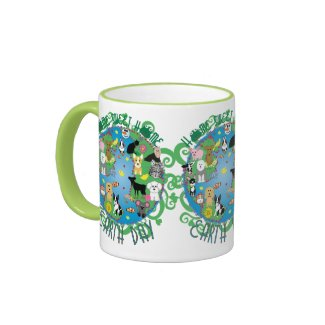Home Sweet Home Whimsical Earth with Animals Mug mug