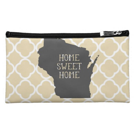Home Sweet Home Wisconsin Makeup Bags