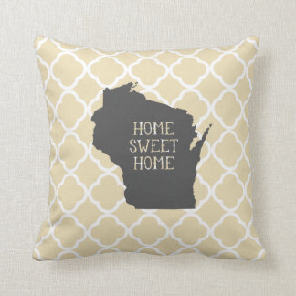 Home Sweet Home Wisconsin Throw Pillow