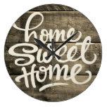 Home Sweet Home | Wood Large Clock