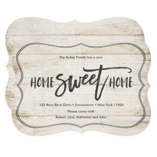 Home Sweet Home Wood Pallet Moving Announcement