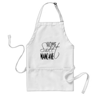 Home Sweet Man-cave - black Adult Apron
