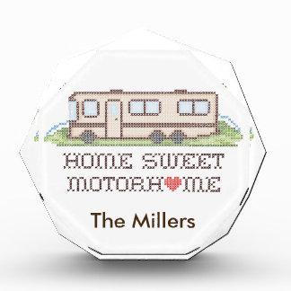 Home Sweet Motor Home, Class A Fun Road Trip Acrylic Award