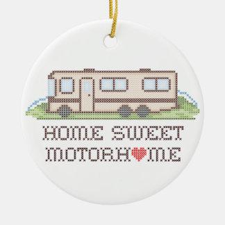 Home Sweet Motor Home, Class A Fun Road Trip Ceramic Ornament