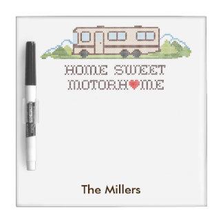 Home Sweet Motor Home, Class A Fun Road Trip Dry-Erase Board