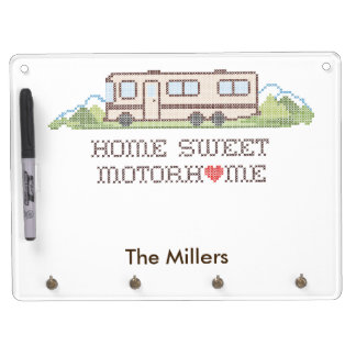 Home Sweet Motor Home, Class A Fun Road Trip Dry-Erase Whiteboard