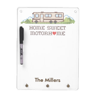 Home Sweet Motor Home, Class A Fun Road Trip Dry Erase Board