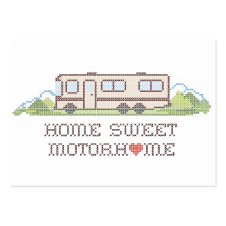 Home Sweet Motor Home, Class A Fun Road Trip Large Business Card