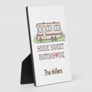 Home Sweet Motor Home, Class A Fun Road Trip Plaque