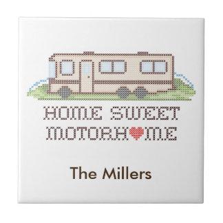 Home Sweet Motor Home, Class A Fun Road Trip Tile