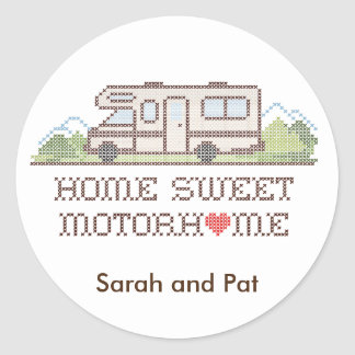 Home Sweet Motor Home, Class C Classic Round Sticker