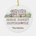 Home Sweet Motor Home, Class C Fun Road Trip Ceramic Ornament