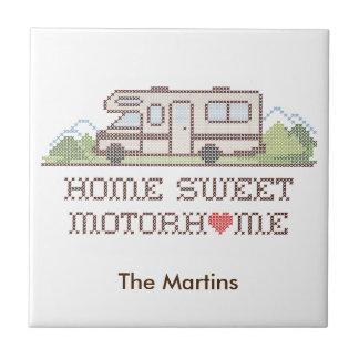 Home Sweet Motor Home, Class C Fun Road Trip Ceramic Tile