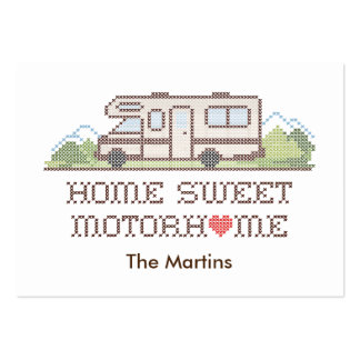 Home Sweet Motor Home, Class C Fun Road Trip Large Business Card