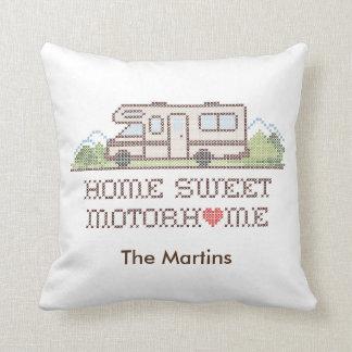 Home Sweet Motor Home, Class C Fun Road Trip Throw Pillow
