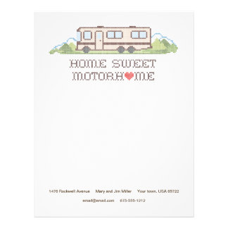 Home Sweet Motor Home, Fun Road Trip Letterhead
