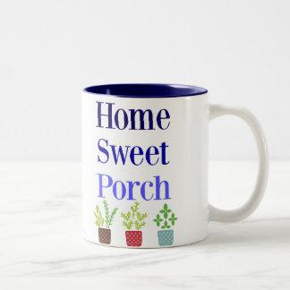 Home Sweet Porch Two-Tone Coffee Mug